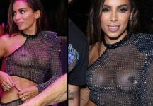 Anitta Nua Pagando Peitinho De Vestido Transparente